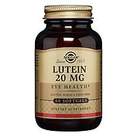 NHẬP KHẨU USA CHÍNH HÃNG - Viên uống bổ mắt bổ sung lutein, tăng cường thị lực Solgar Lutein 20mg