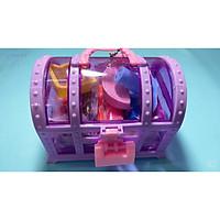 Bộ đồ chơi đất nặn hình chiếc rương có chìa khóa cute(màu ngẫu nhiên)