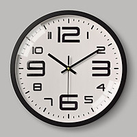 Đồng hồ treo tường Quartz 30cm số lớn viền rộng