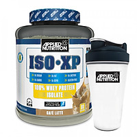 Combo Sữa tăng cơ vị cà phê latte - whey iso xp - Applied Nutrition - 2kg 80 lần dùng & Bình lắc 700 ml