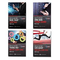 Combo 4 cuốn Quản trị và khởi nghiệp: Nghệ thuật lãnh đạo + Vững bước thương trường + Thương hiệu mở lối thành công + Khỏi nghiệp dẫn đầu cuộc đua