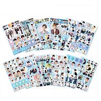Combo 12 hình dán Sticker BTS gồm nhiều tấm ảnh khác nhau
