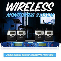 UHF 40 Channels 798-830MHz One to Four Wireless Stage Monitor System 4Receiver + Transmitter