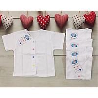 Set 5 áo cúc giữa trơn tay ngắn cho bé sơ sinh(2-8kg)