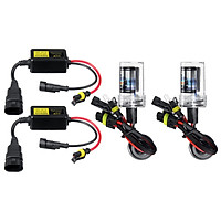 September(8000K-2pcs/set With Ballasts)H7 55W IP68 Waterproof Car Motorcycle HID Xenon LED Headlight Bulb Conversion Replacement Headlight Lamp 5500LM DC9-16V-Plug & Play