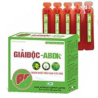 Thực phẩm bảo vệ sức khỏe GIẢI ĐỘC- ABDK ( hộp 15 ống) Giúp thanh nhiệt, giải độc gan, mát gan, tăng cường chức năng gan