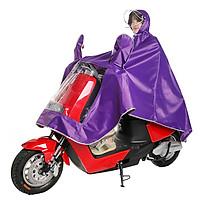 Áo mưa vải cao cấp mới mũ trùm tiện dụng cho xe máy