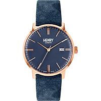 Đồng Hồ Unisex Henry London HL40-S-0370 - Dây Da