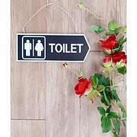 Bảng treo chỉ dẫn toilet hai mặt bằng gỗ in sơn
