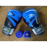 Găng đấm boxing BN Fight VN cao cấp lõi đúc định hình bảo vệ tốt đa tay và cổ tay tặng kèm băng quấn 3m BN co dãn có đủ màu và size khách lựa chọn