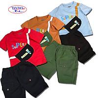 Combo 3 Bộ quần áo trẻ em | quần áo bé trai | mẫu Supere cool cao cấp | cho bé từ 23kg đến 35kg | vải cotton 100% mềm mại co giản 4 chiều | Giao màu ngẫu nhiên