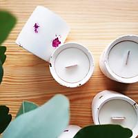 Nến thơm cao cấp bằng sáp tự nhiên được đựng trong cốc trang trí hoa giấy độc đáo, tinh dầu hữu cơ tự chọn