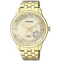 Đồng Hồ Citizen Nam Dây Kim Loại Pin-Quartz BI1052-85P - Mặt Vàng (40mm)