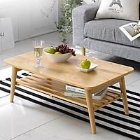 Bàn trà đạo chân xếp gỗ tự nhiên