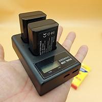 Bộ 2 Pin + Dock sạc dành cho máy ảnh Sony A6000 - A6300 - A6500 - T098