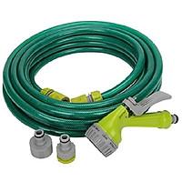 Bộ vòi xịt đa năng kèm dây dài 20m Jihom (Xanh lá cây)