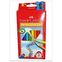 Faber-Castell-11653820-Chì Màu Junior Triangular - 20 Màu Dài + Chuốt