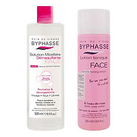 Combo Nước Tẩy Trang Byphasse Micellar Make-Up Remover Solution (500ml) + Nước Hoa Hồng Dưỡng Da Byphasse Face Soft Toner Lotion (500ml)