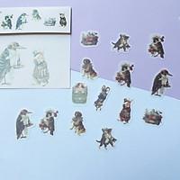 Bộ 32 Sticker Hình Dán Mini Động Vật Đáng Yêu
