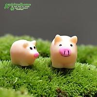Mô hình heo con (lợn con), phụ kiện trang trí, decor tiểu cảnh terrarium, bánh gato, DIY, handmade