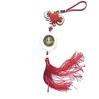 Dây như ý xu Phật Nepal, chất liệu xu bằng Niken, dây treo bằng dây bện đỏ, mang lại may mắn, bình an, bảo vệ bạn, tặng kèm túi gấm Long Phụng đỏ - SP001052