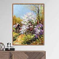 Tranh sơn dầu phong cảnh mùa thu Châu Âu - OP001