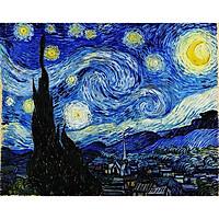 Tranh ghép hình 1000 mảnh bằng gỗ đêm đầy sao