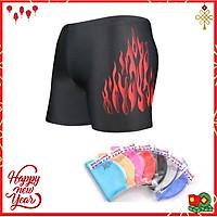 Quần bơi Nam body cao cấp Yesure Red Fire chất vải thun co giãn 4 chiều, dành cho vận động viên chuyên nghiệp và người có sở thích đi bơi - Tặng kèm nón bơi Silicon cao cấp ( màu ngẫu nhiên )