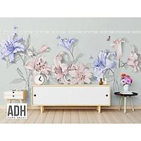 Tranh dán tường canvas hình hoa ADHW004