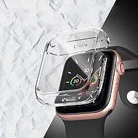 Ốp Case Bảo Vệ TPU Trong Suốt & Mặt Kính Cường Lực dành cho Apple Watch Series 4/5/6/SE (Size 40mm/44mm)
