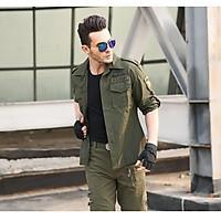 Bộ quần áo nam kaki lính mỹ( xanh rêu)