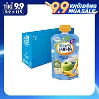 Thùng 12 Gói Trái cây nghiền vị táo, chuối và phomai tươi Fruto Nyanya 90g