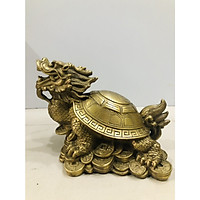 Tượng rùa đầu rồng bằng đồng cao 15cm