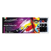 Bộ Màu Vẽ Renaissance Acrylic Masterart Series (12 màu x12 ml)