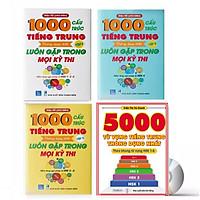 Combo 4 sách : 1000 Cấu Trúc Tiếng Trung Thông Dụng Nhất Luôn Gặp Trong Mọi Kỳ Thi Tập 1 + Tập 2 + Tập 3 và  5000 từ vựng tiếng Trung thông dụng nhất  từ HSK1 đến HSK6 DVD