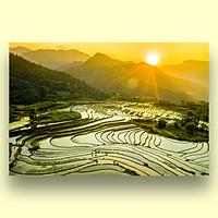 Tranh Treo Tường Canvas Phong Cảnh Ruộng Bậc Thang Vùng Cao Tây Bắc Việt Nam - Công Nghệ In UV Nhật Bản - Màu Sắc Đẹp Rõ Nét
