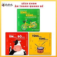 Sách Ehon Nhật Bản- Bộ Sách Âm Thanh Quanh Bé Dành Cho Bé Từ 0-6 Tuổi- Sách Ehon Khám Phá Thế Giới Âm Thanh Diệu Kỳ