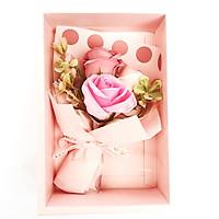 Hộp quà tặng hoa sáp Valentine kích thước 20x11x7cm