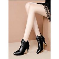 Giày boot cổ lửng,giày boot da đế nhọn cao 5cm B146
