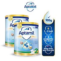 Combo 2 Sữa bột Aptamil New Zealand hộp thiếc số 2 (900g/lon) cho bé 12-24 tháng tuổi