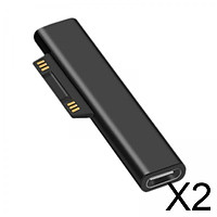 2xUSB 3.1 Charging Adapter for Microsoft Surface Pro Works with 3A USB-C Cable