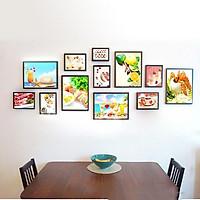 Bộ khung ảnh Composite Treo Tường phòng khách, phòng ăn 12 khung KA1207 Và phụ kiện