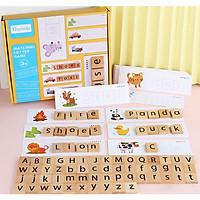 Đồ chơi gỗ - Bộ Ghép từ Matching Letter theo thẻ - GIÚP BÉ HỌC TỪ, ĐÁNH VẦN