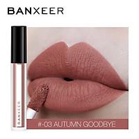 BANXEER Matte Lip Gloss Long Lasting Moisture Cosmetic Lipstick Waterproof for Plumper Lips