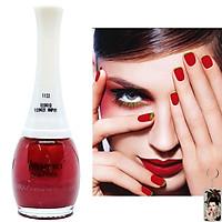 Sơn móng tay Aroma Nail Polish Hàn Quốc 12ml #1660 màu đỏ tặng kèm móc khóa