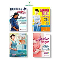 Sách: Combo Tri thức Thai Sản + Mang Thai Thành Công + Hành Trình Thai Giáo + Âm Nhạc Thai Giáo