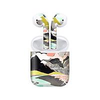 Miếng dán skin chống bẩn cho tai nghe AirPods in hình giả sơn mài - GSM106 (bản không dây 1 và 2)