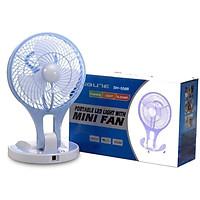 Quạt Tích Điện Mini Kèm Led - Mini Fan Đa Năng (Màu Ngẫu Nhiên)