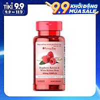 Viên Uống Puritan's Pride Raspberry Ketones and White Kidney Bean 600mg 60v, hỗ trợ giảm cân an toàn, ngăn cảm giác thèm ăn, ngừa hấp thu tích tụ chất béo, vóc dáng thon gọn, không gây mất nước, chóng mặt chậm quá trình oxy hóa, nâng cao hệ miễn dịch
