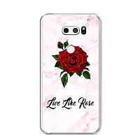Ốp lưng dẻo cho điện thoại LG V30 - 0060 FLOWER08 - Hàng Chính Hãng
